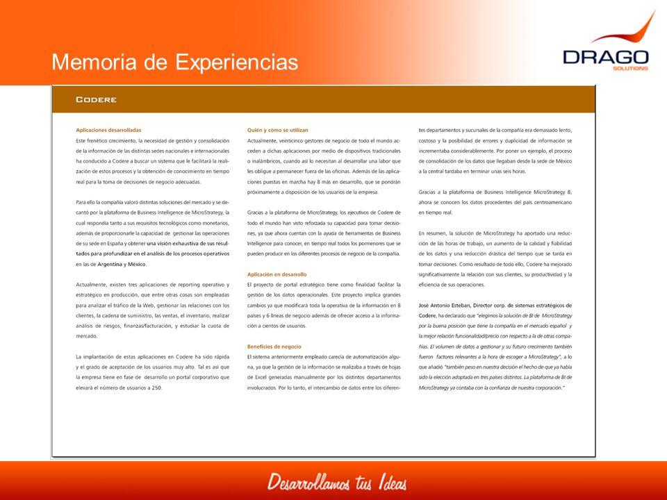 Memoria de Experiencias