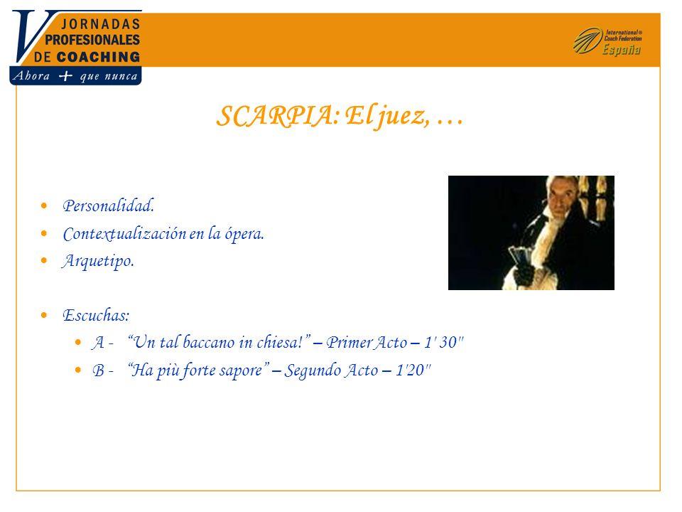 SCARPIA: El juez, … Personalidad. Contextualización en la ópera.