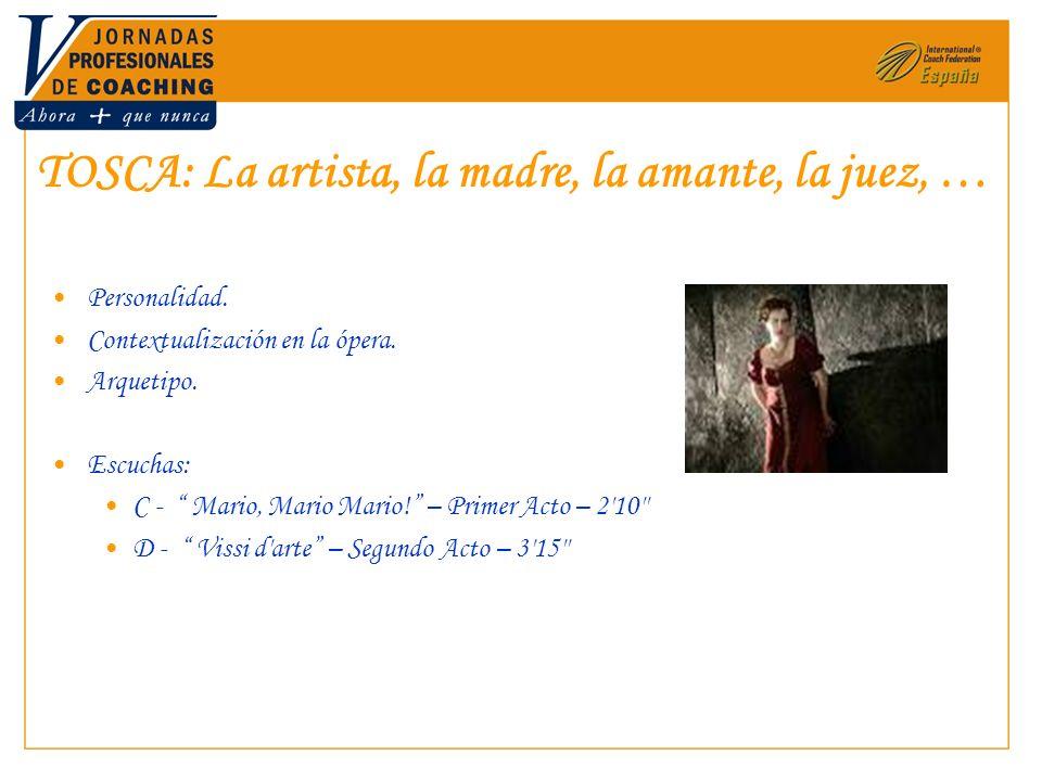 TOSCA: La artista, la madre, la amante, la juez, …