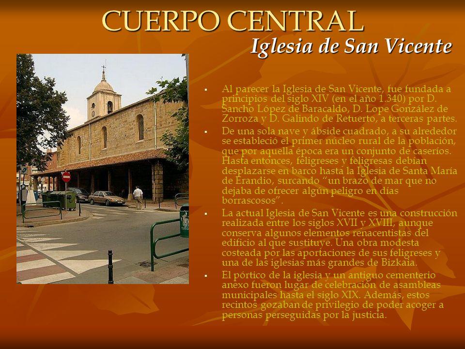 CUERPO CENTRAL Iglesia de San Vicente