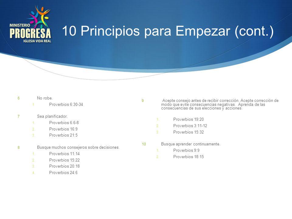 10 Principios para Empezar (cont.)