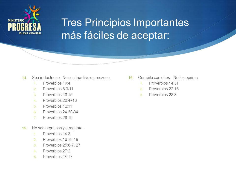 Tres Principios Importantes más fáciles de aceptar: