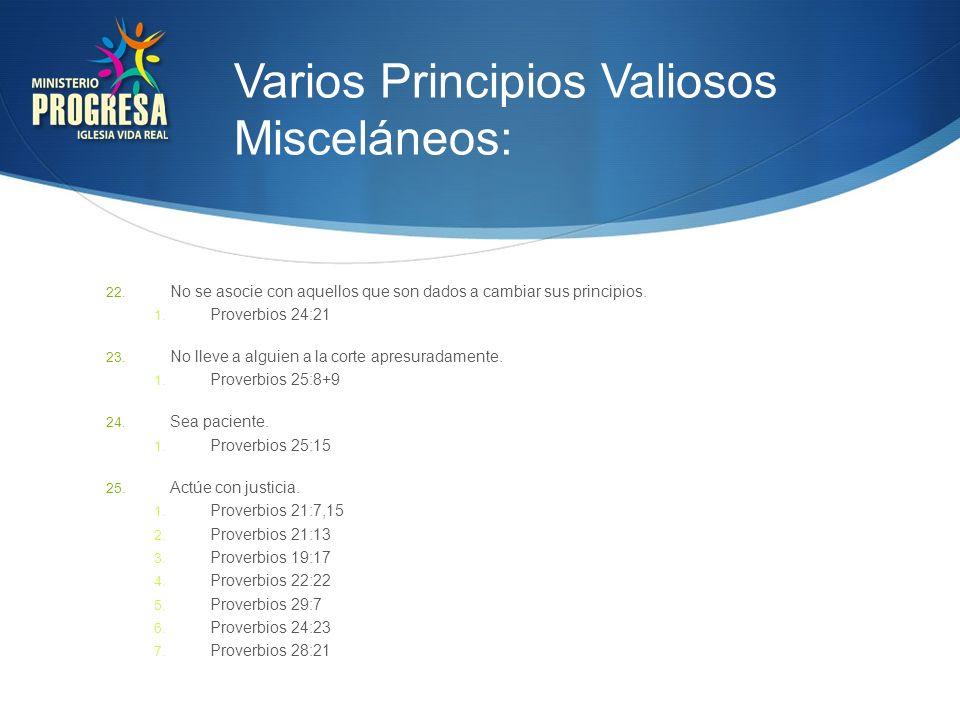 Varios Principios Valiosos Misceláneos: