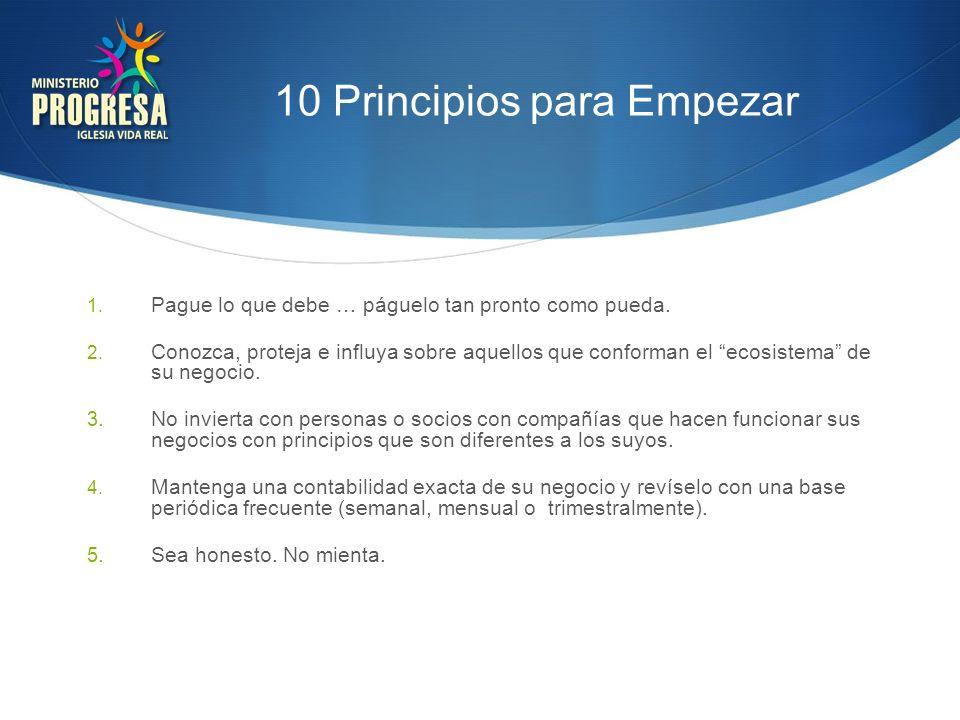 10 Principios para Empezar