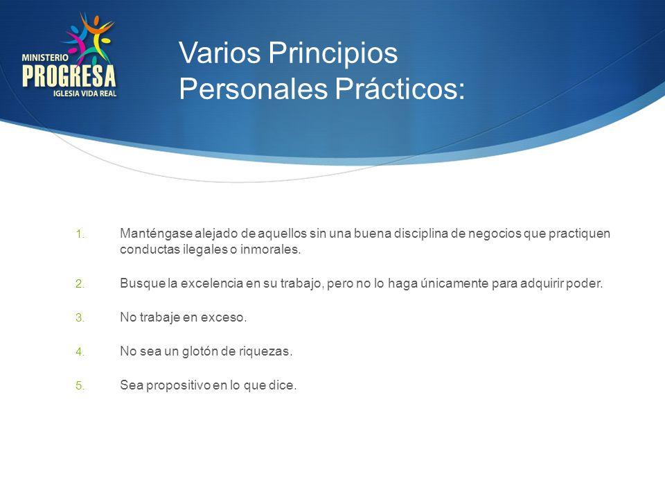 Varios Principios Personales Prácticos: