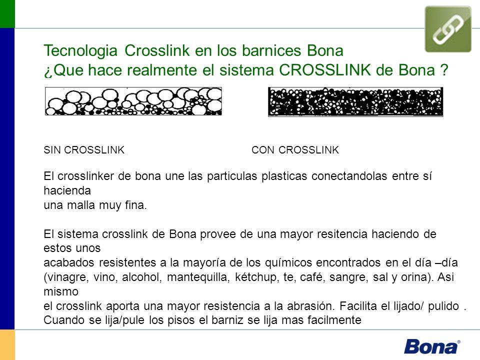 Tecnologia Crosslink en los barnices Bona