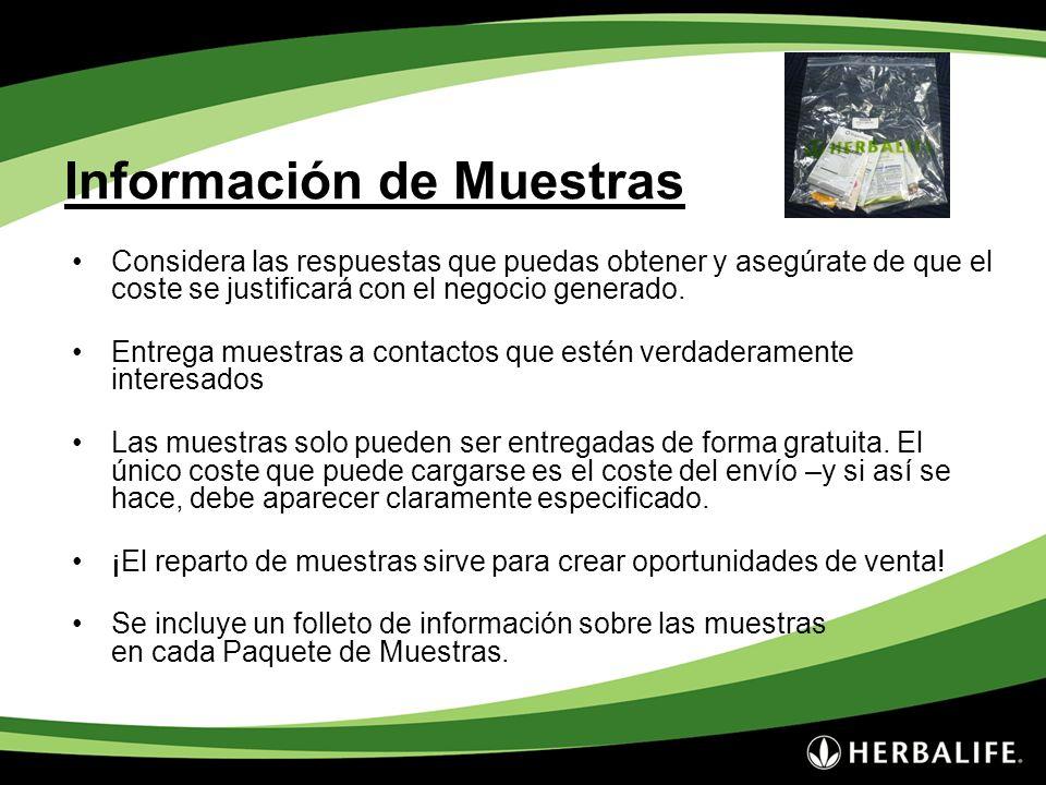 Información de Muestras