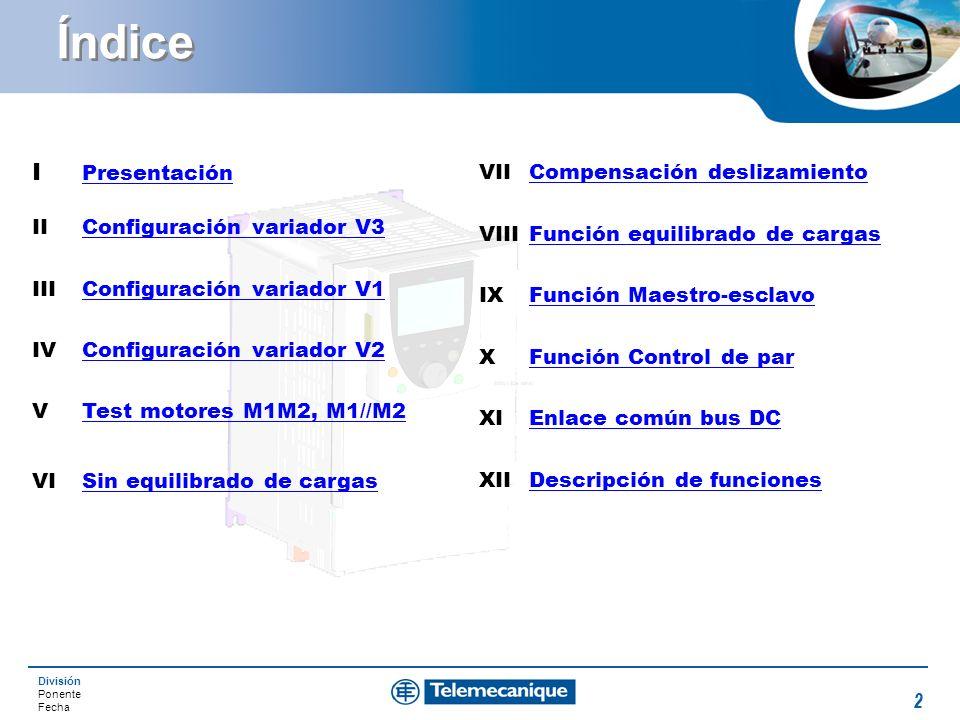 Índice I Presentación VII Compensación deslizamiento