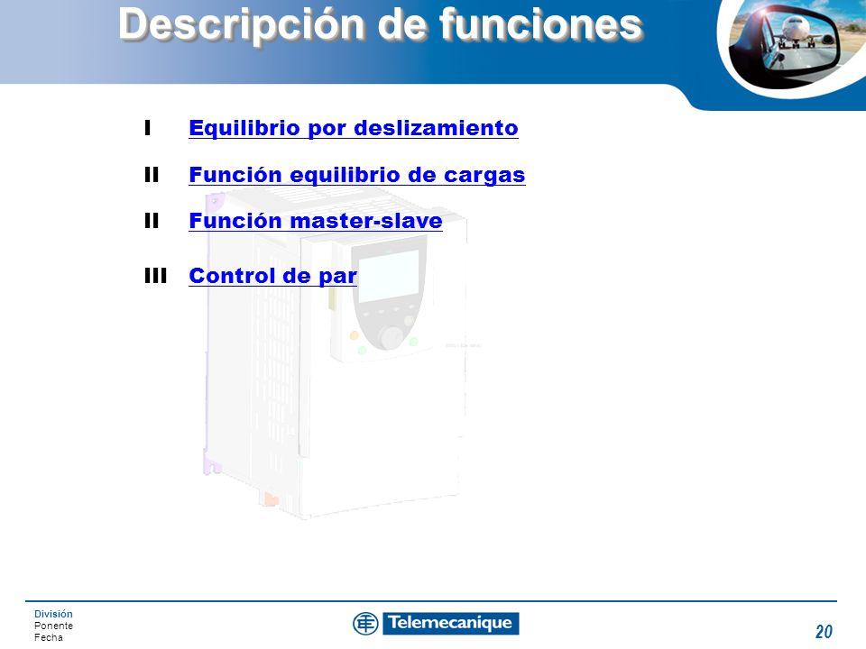 Descripción de funciones