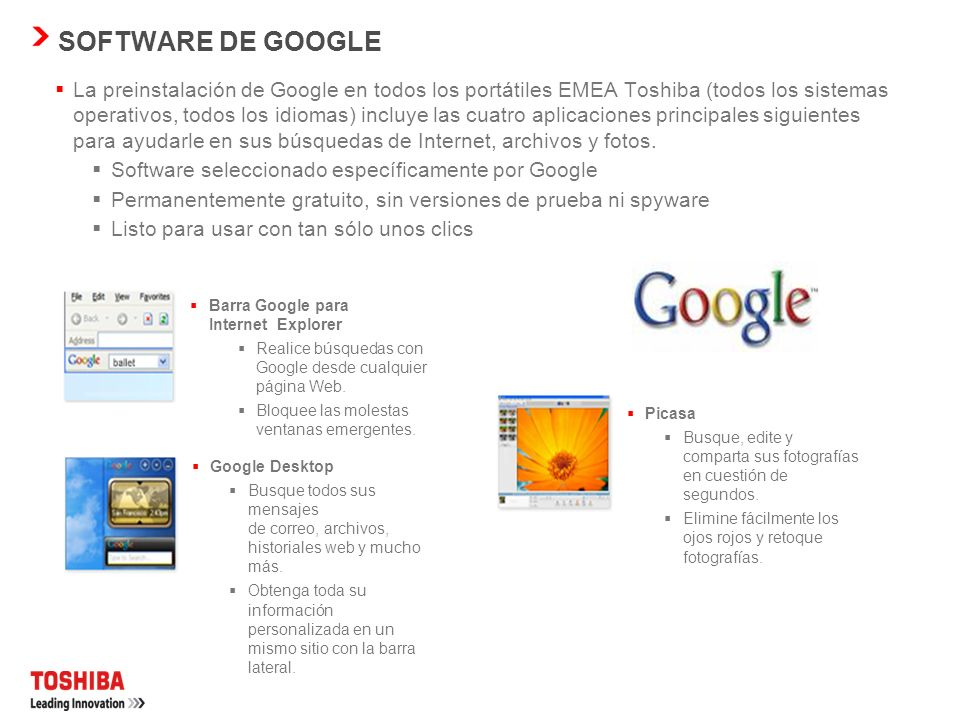 SOFTWARE DE GOOGLE