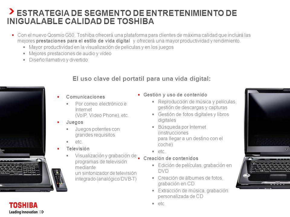 ESTRATEGIA DE SEGMENTO DE ENTRETENIMIENTO DE INIGUALABLE
