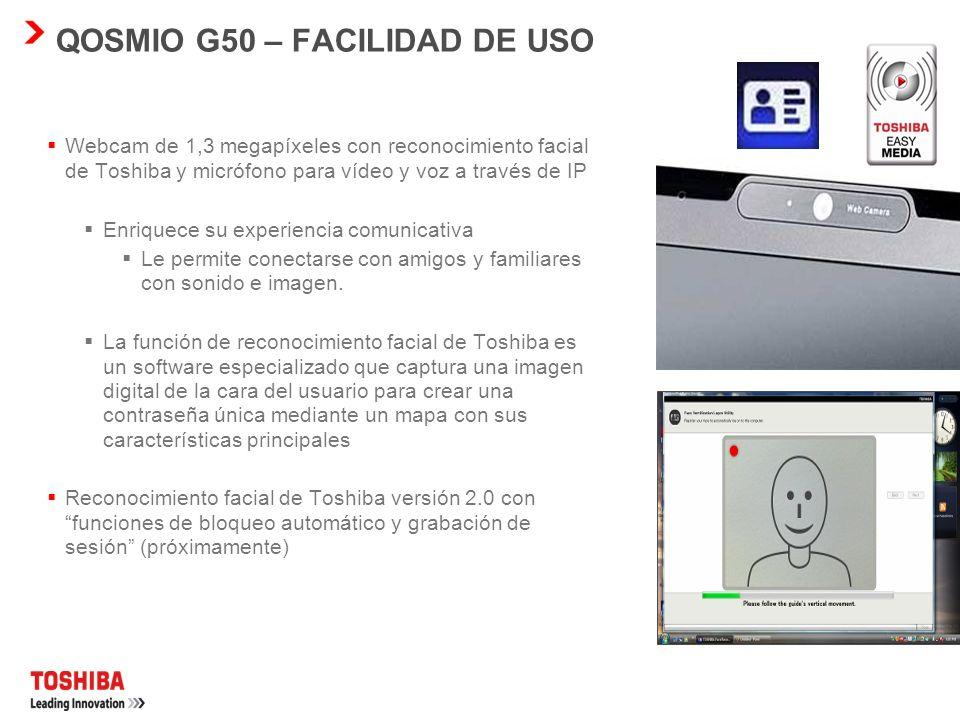QOSMIO G50 – FACILIDAD DE USO