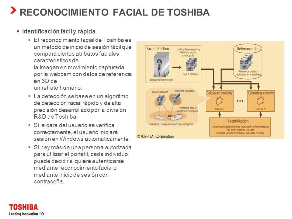 RECONOCIMIENTO FACIAL DE TOSHIBA