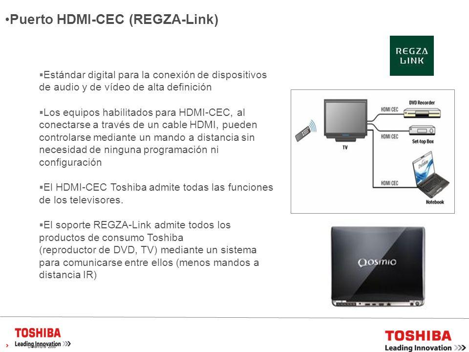 Puerto HDMI-CEC (REGZA-Link)