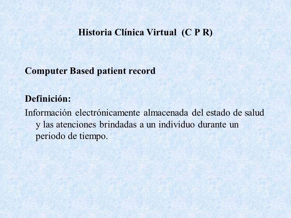 Historia Clínica Virtual (C P R)