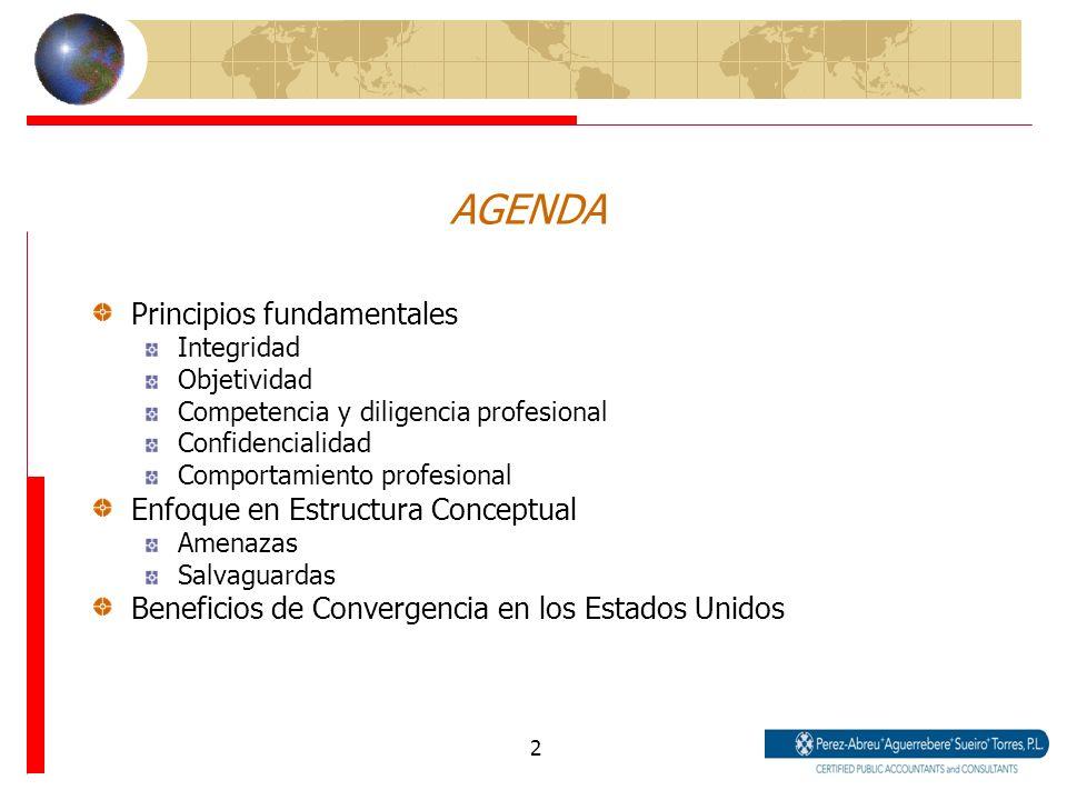 AGENDA Principios fundamentales Enfoque en Estructura Conceptual