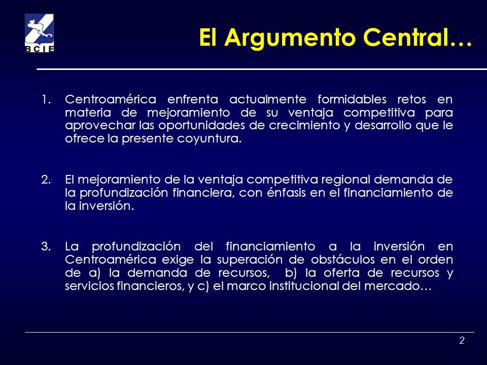 El Argumento Central…