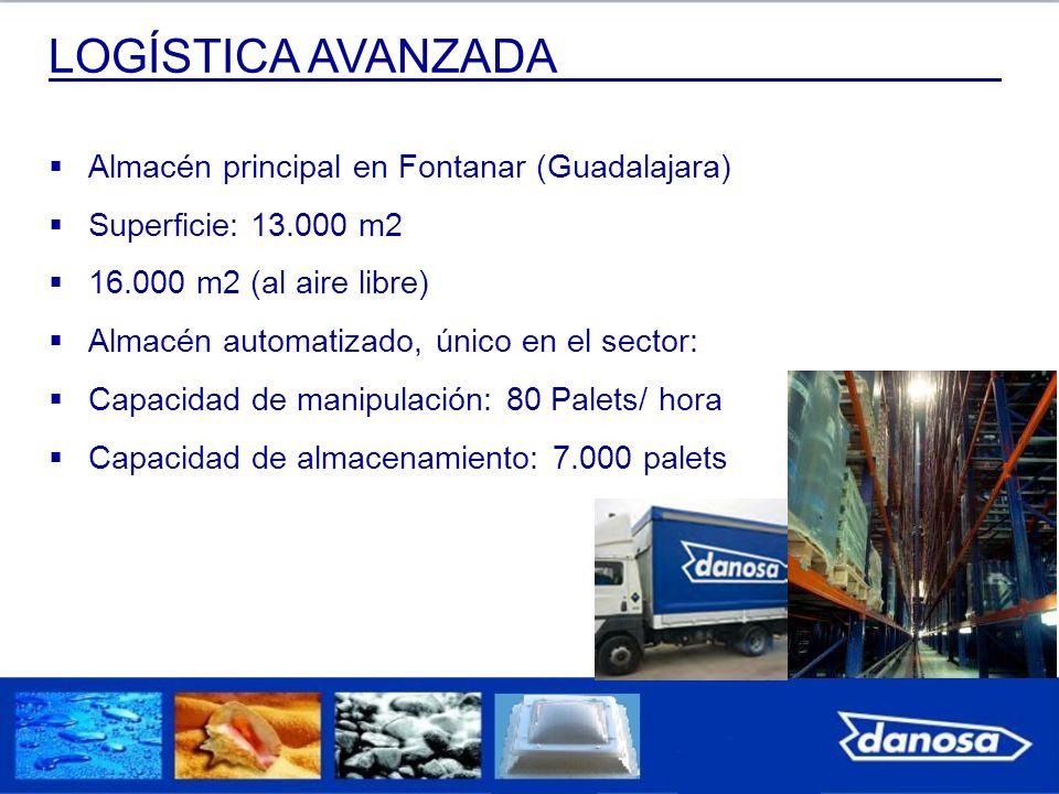 LOGÍSTICA AVANZADA Almacén principal en Fontanar (Guadalajara)