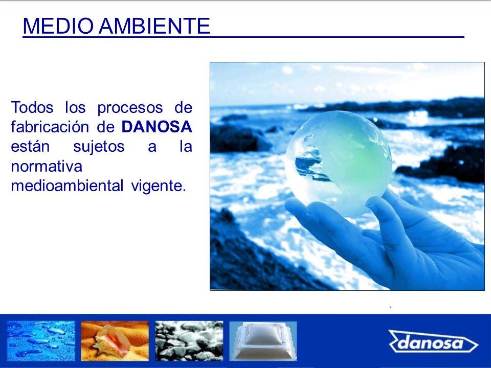 MEDIO AMBIENTE Todos los procesos de fabricación de DANOSA están sujetos a la normativa medioambiental vigente.