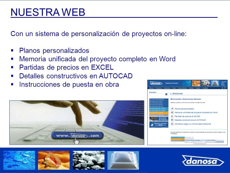 NUESTRA WEB Con un sistema de personalización de proyectos on-line: