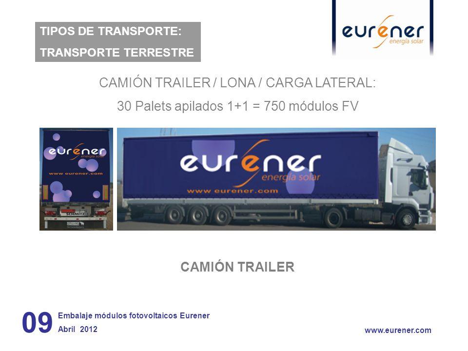 09 CAMIÓN TRAILER / LONA / CARGA LATERAL: