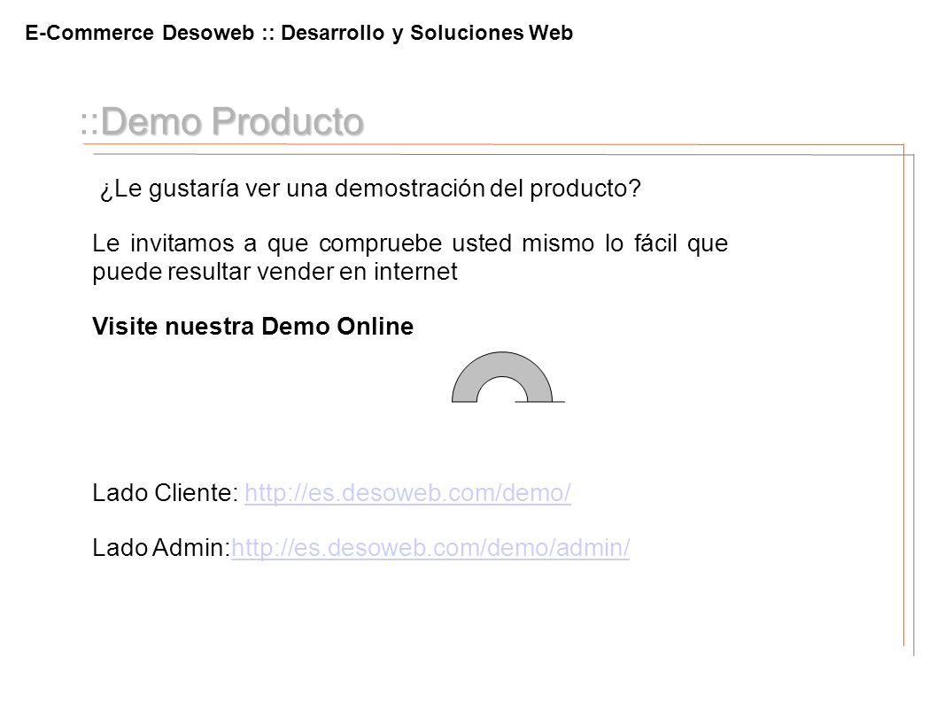 ::Demo Producto ¿Le gustaría ver una demostración del producto
