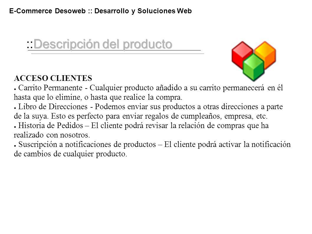 ::Descripción del producto