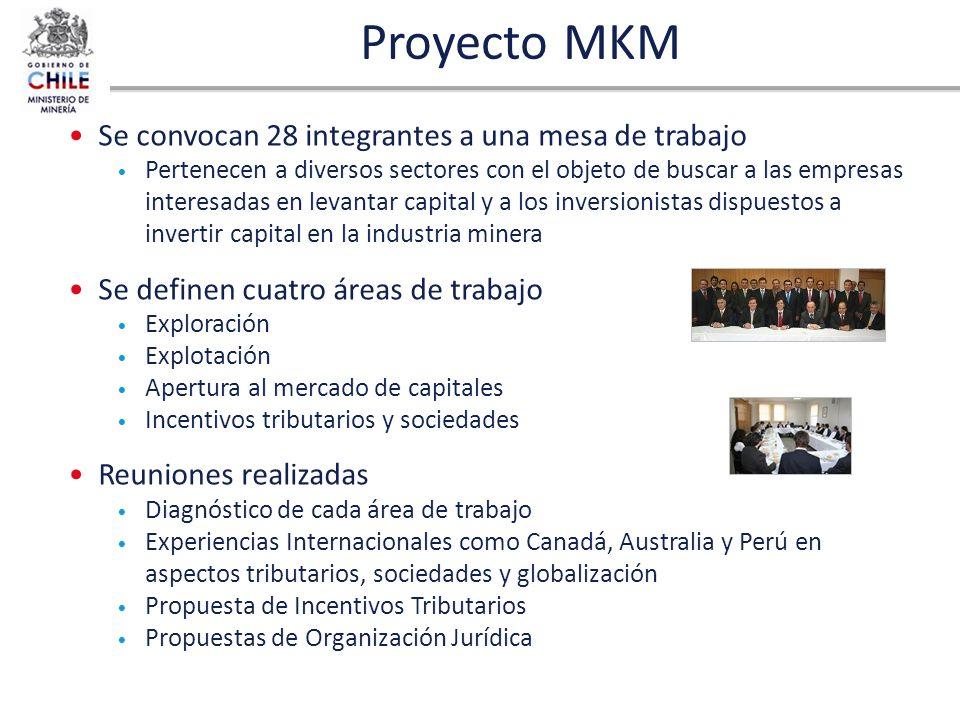 Proyecto MKM Se convocan 28 integrantes a una mesa de trabajo