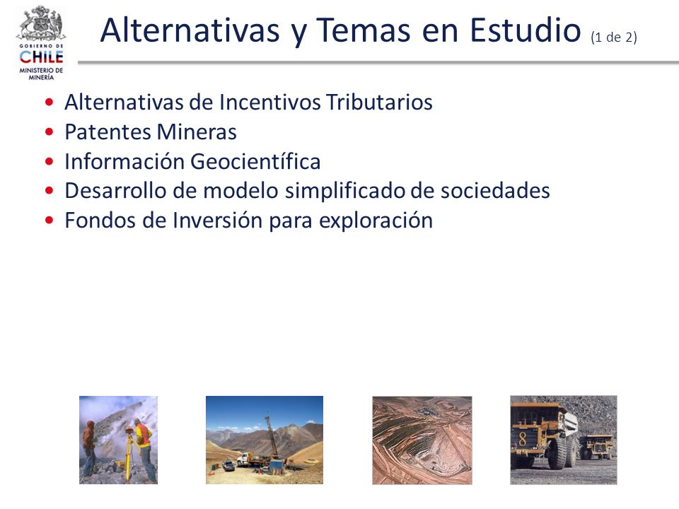 Alternativas y Temas en Estudio (1 de 2)