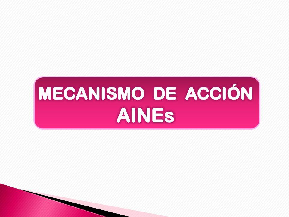 MECANISMO DE ACCIÓN AINEs