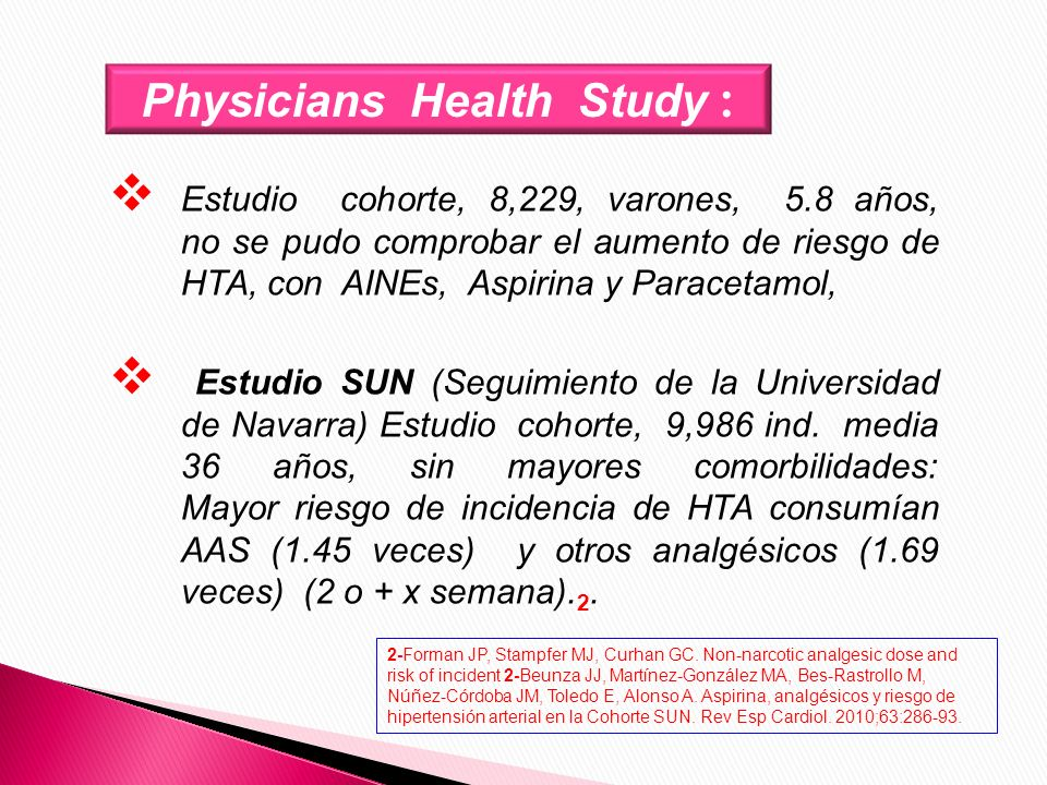 Physicians Health Study :