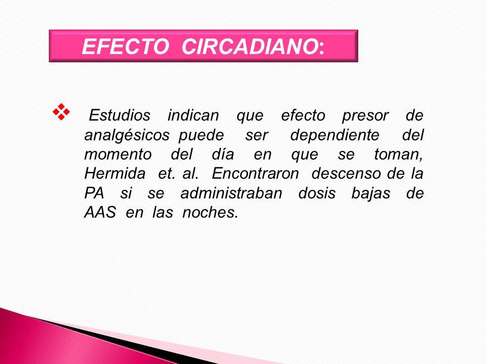 EFECTO CIRCADIANO: