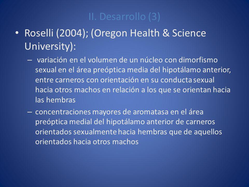 Roselli (2004); (Oregon Health & Science University):