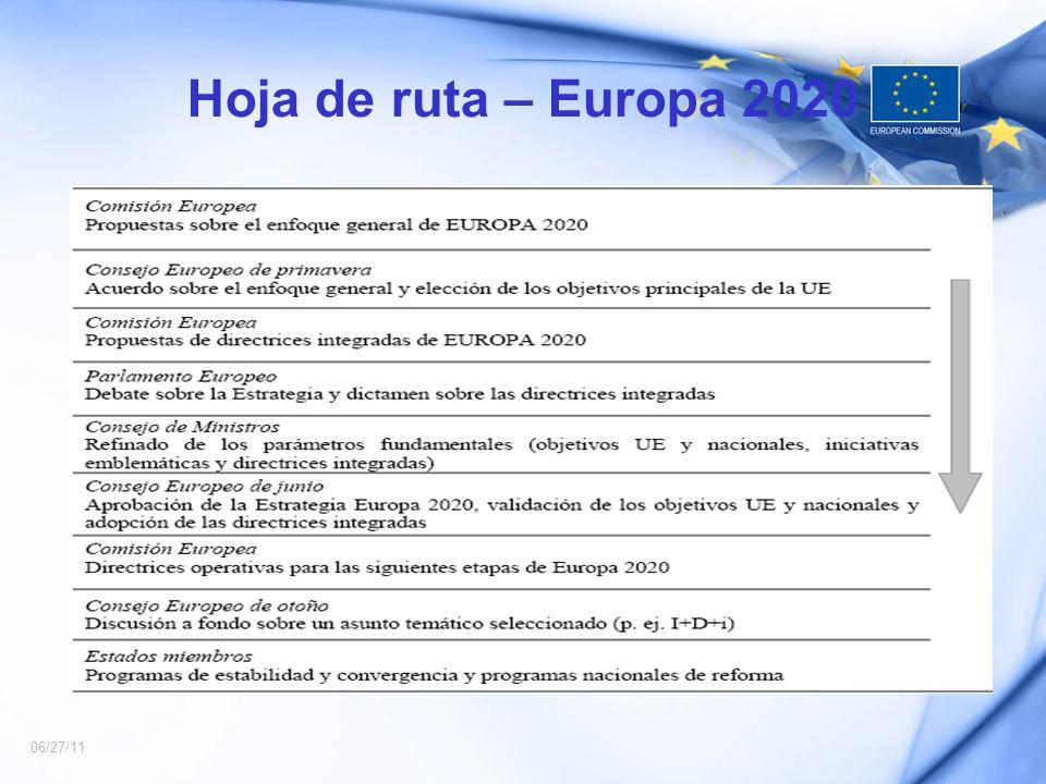 Hoja de ruta – Europa 2020 06/27/11