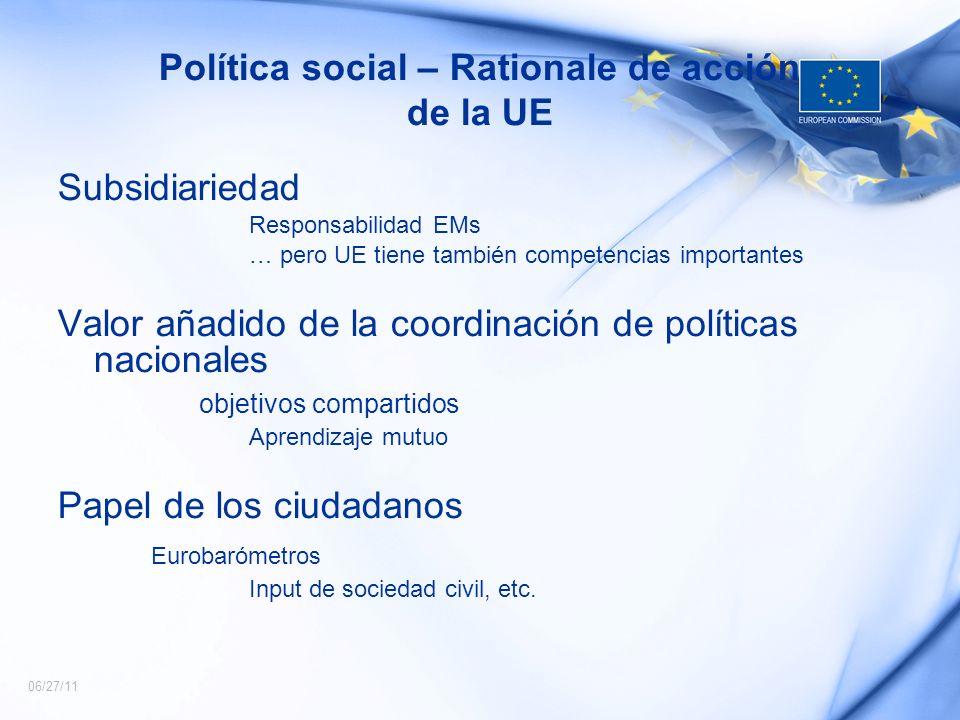 Política social – Rationale de acción de la UE