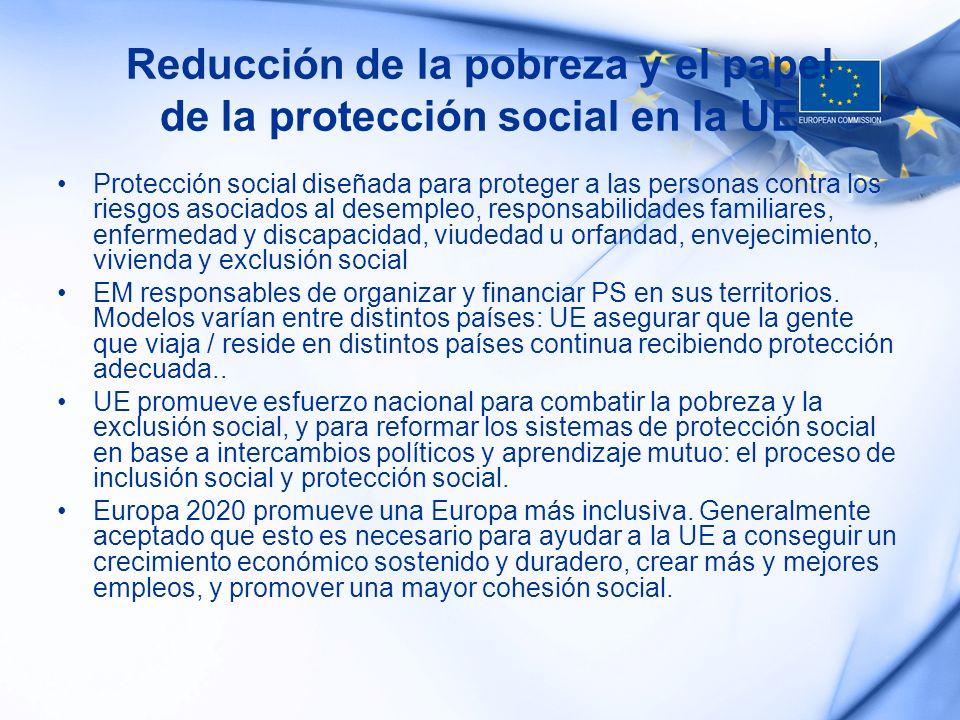 Reducción de la pobreza y el papel de la protección social en la UE