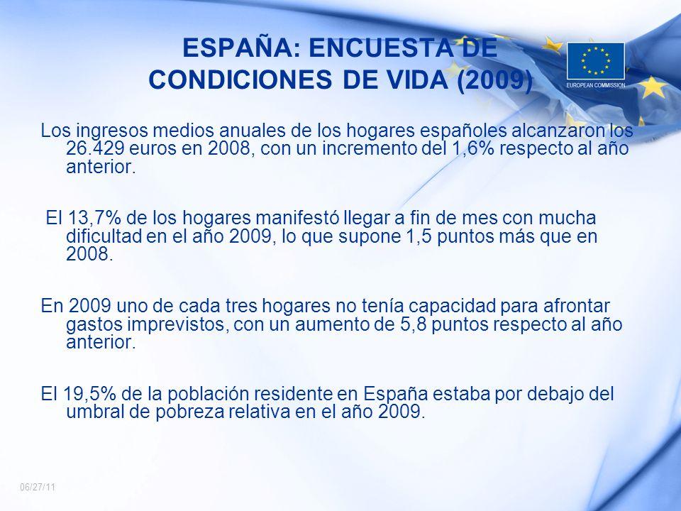 ESPAÑA: ENCUESTA DE CONDICIONES DE VIDA (2009)