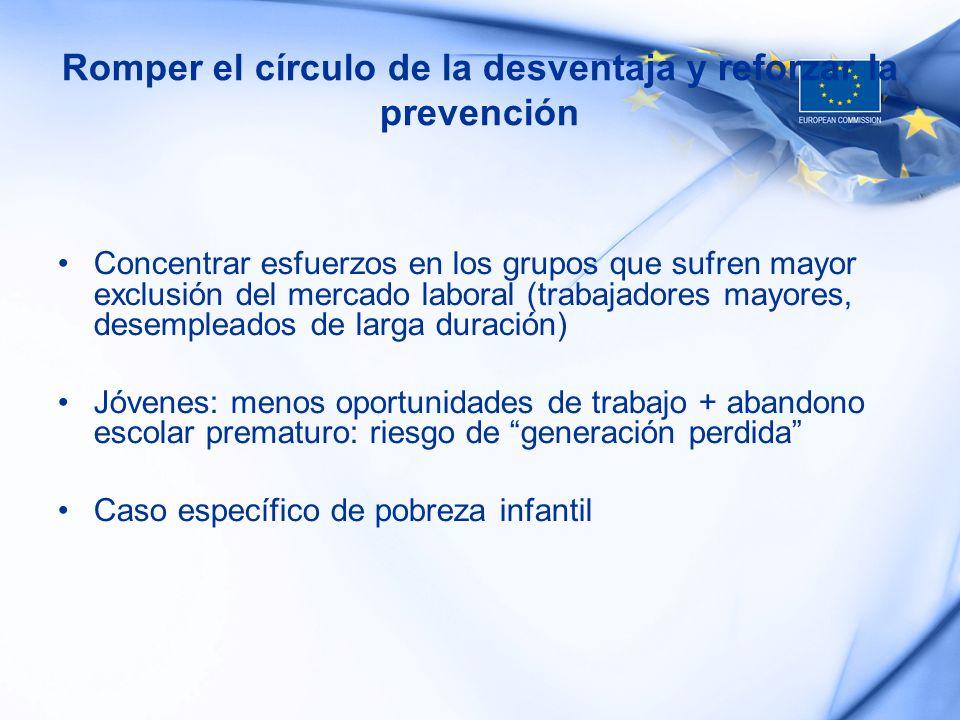Romper el círculo de la desventaja y reforzar la prevención