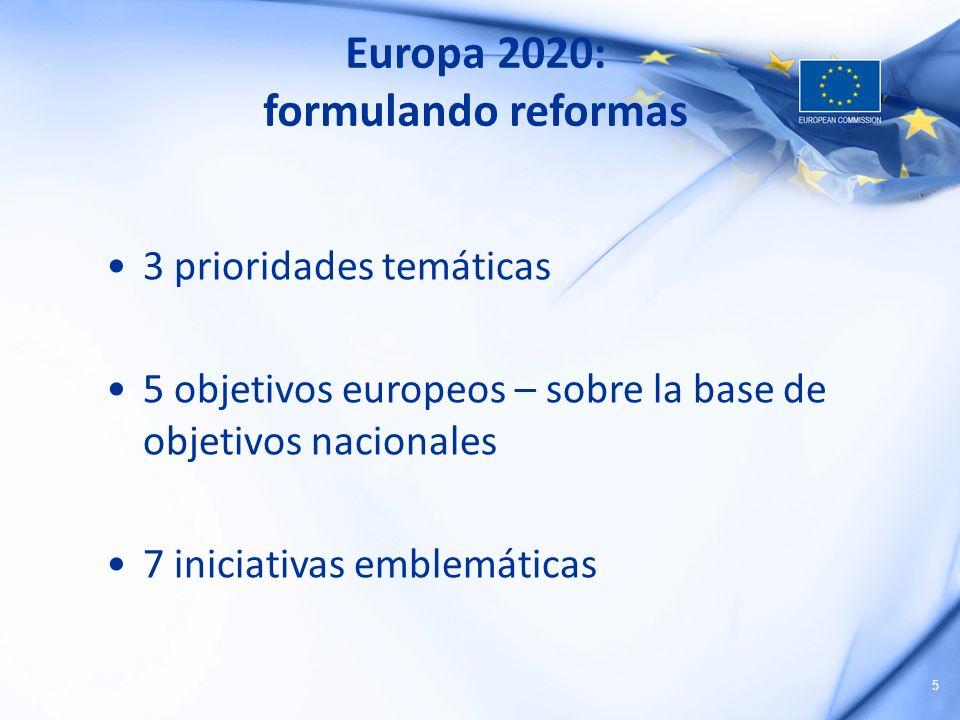 Europa 2020: formulando reformas