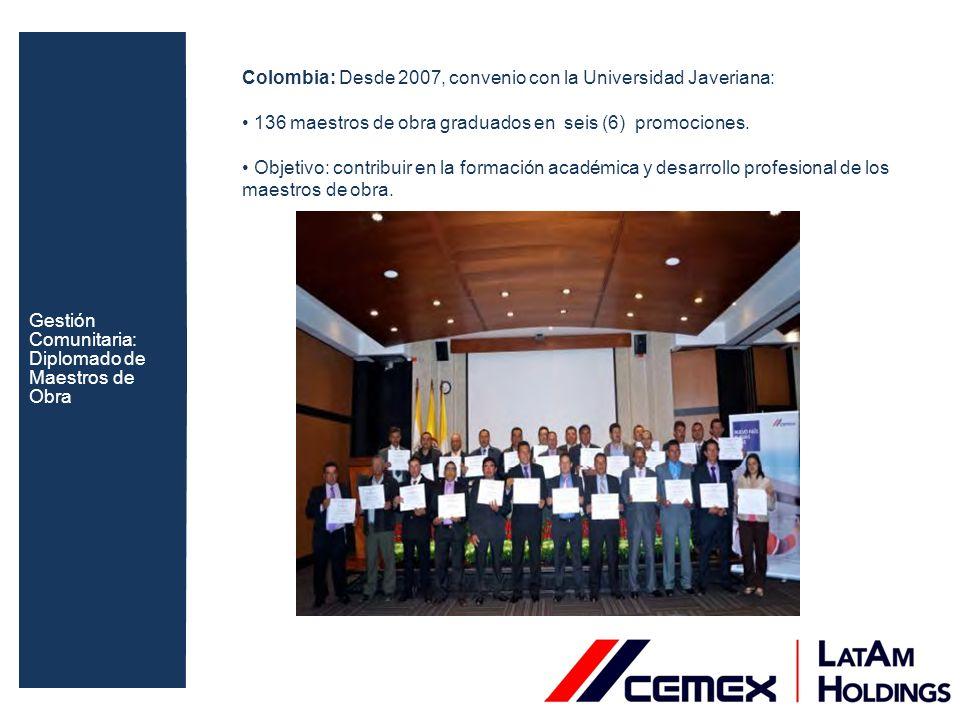 Gestión Comunitaria: Diplomado de Maestros de Obra