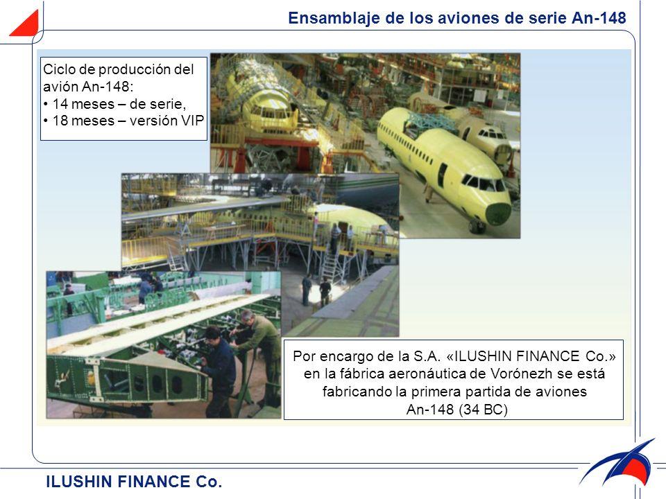 Ensamblaje de los aviones de serie Аn-148