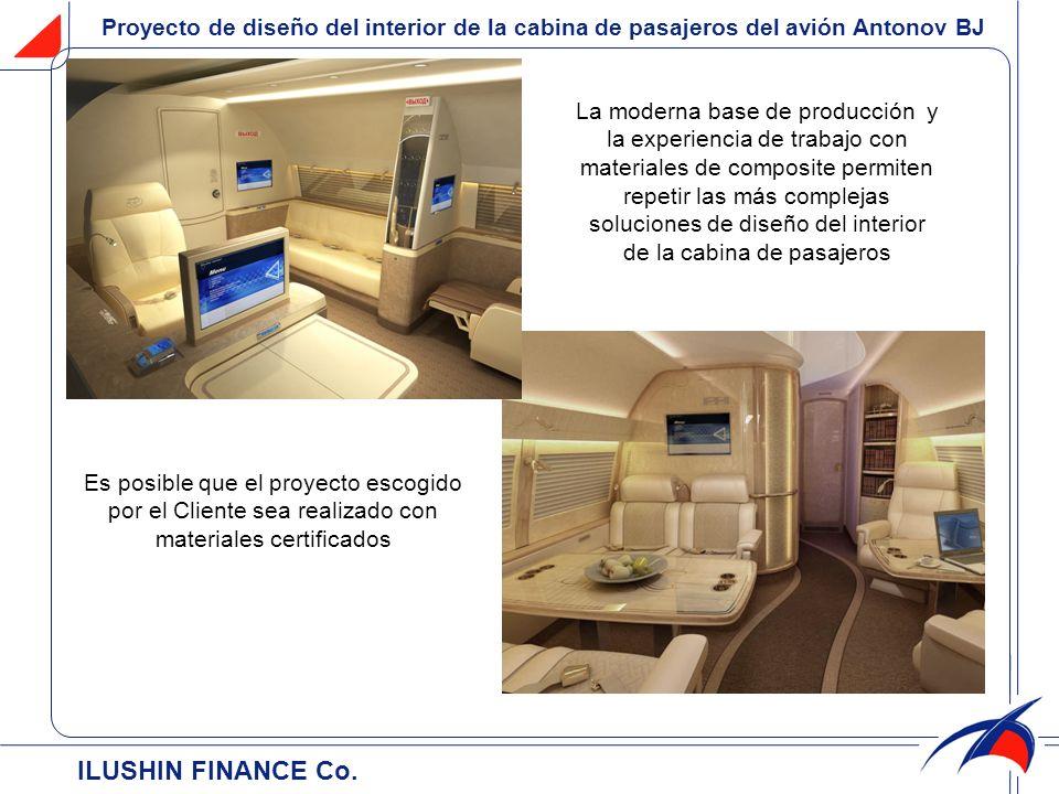 Proyecto de diseño del interior de la cabina de pasajeros del аvión Antonov BJ