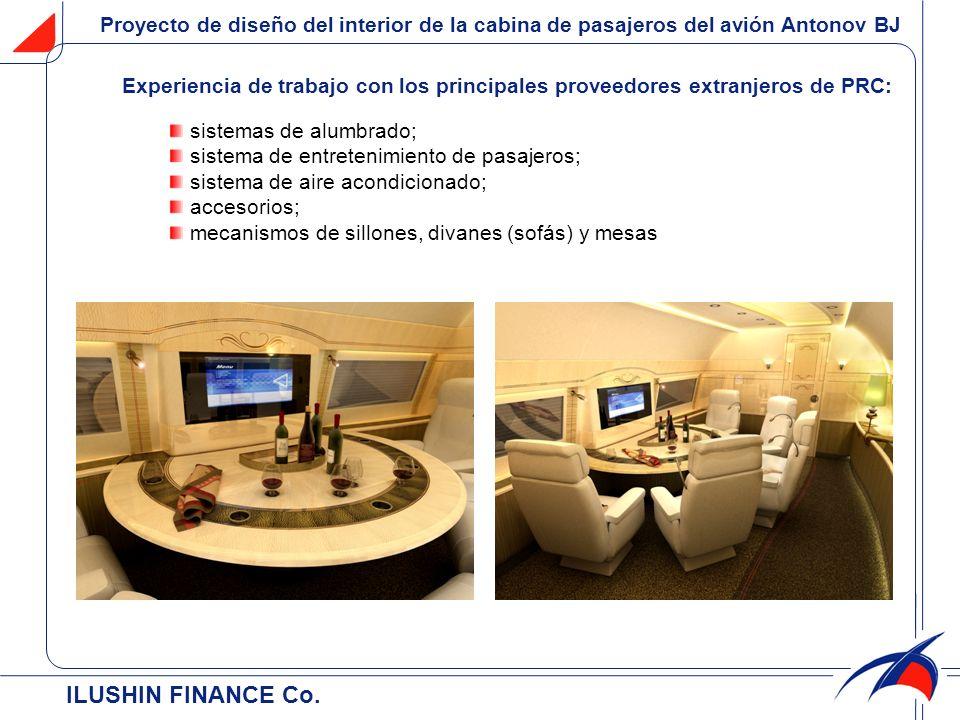 Proyecto de diseño del interior de la cabina de pasajeros del avión Antonov BJ