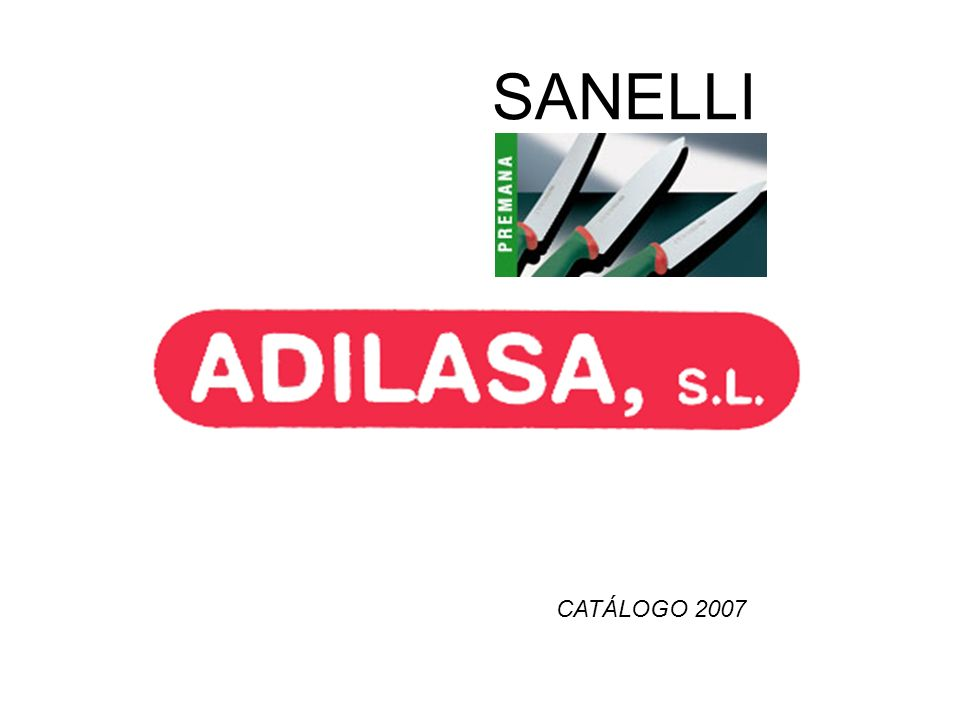 SANELLI CATÁLOGO 2007