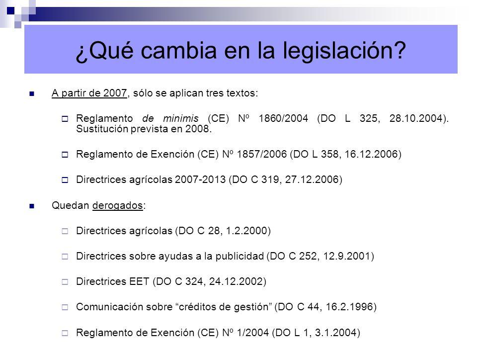 ¿Qué cambia en la legislación