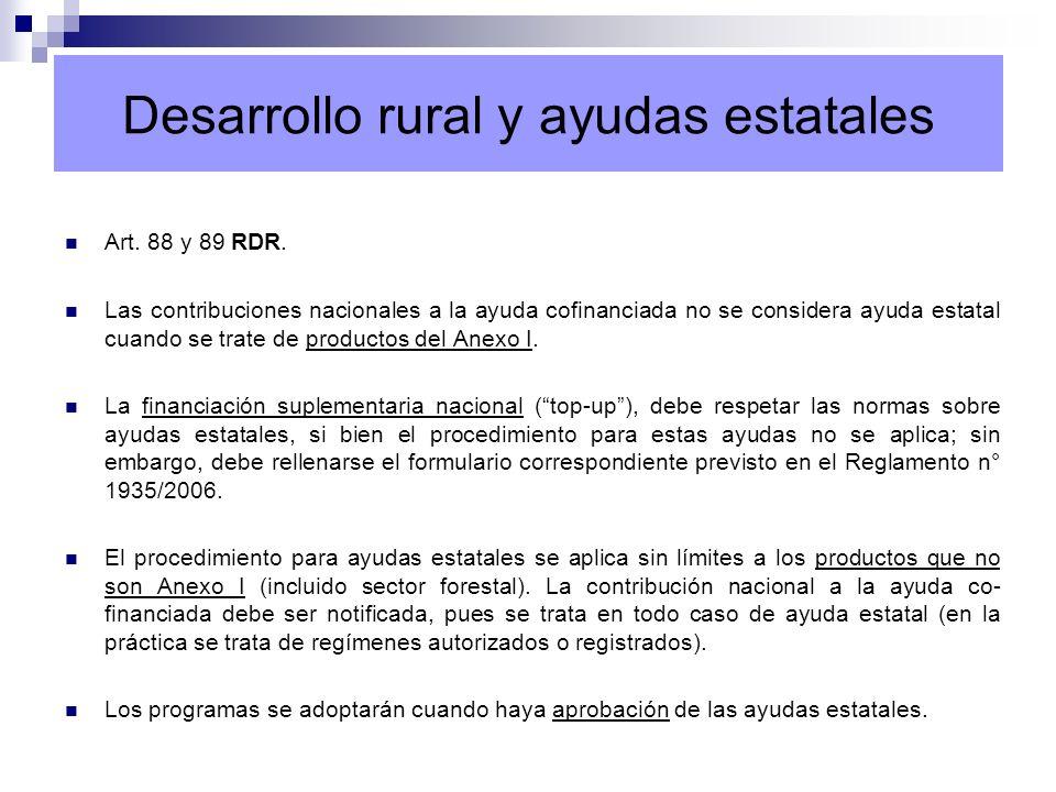 Desarrollo rural y ayudas estatales