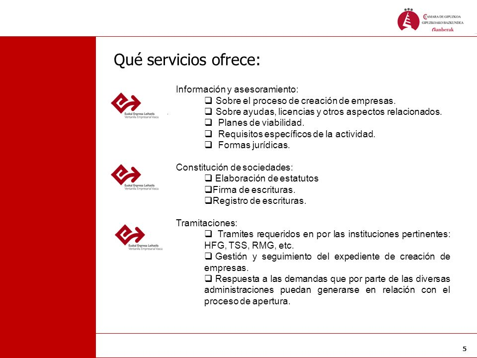 Qué servicios ofrece: Información y asesoramiento: