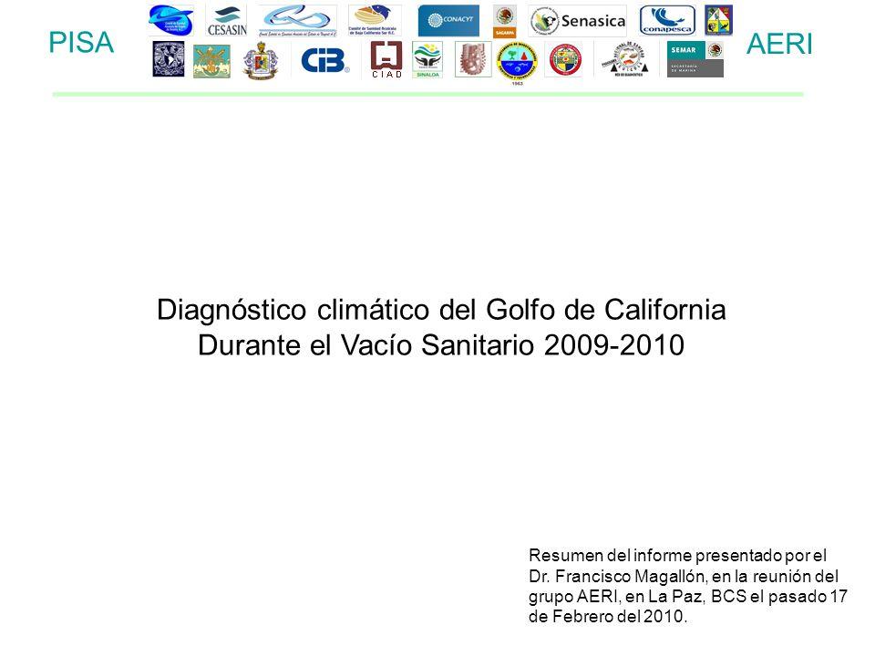 Diagnóstico climático del Golfo de California