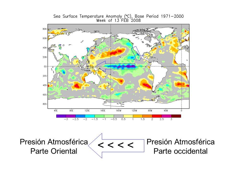< < < < Presión Atmosférica Parte Oriental