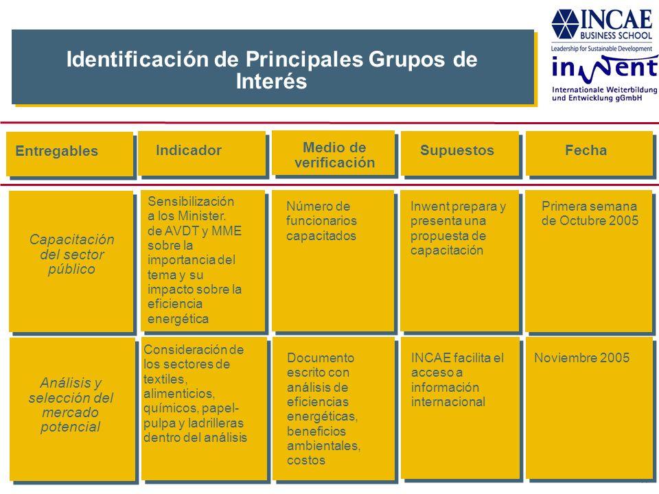 Identificación de Principales Grupos de Interés
